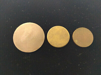 3 x BLANK COIN PLANCHETS 28mm 21mm 19mm