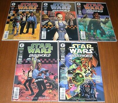 Star Wars Underworld: Yavin Vasilika (art cover set), 5 Dark Horse comics lot