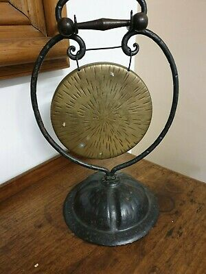 antique brass and metal TABLE GONG