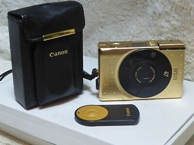 Canon Ixus Gold Limited Edition  Anniversary -with case and remote stunning