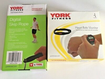 York Fitness Heart Rate Monitor Gym Digital Watch and Digital Skipping Rope