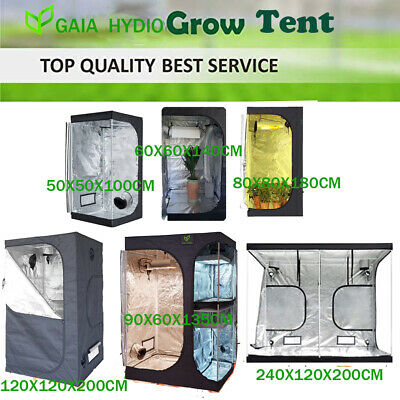 Premium Hydroponic Fan Grow Tent Planting Room Kit Silver Aluminium Lined 6 Size