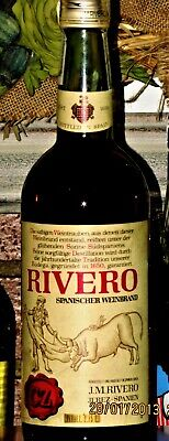 1 x BRANDY de JEREZ ♦ C Z RIVERO ~ 75cl, 38% vol, RARE!!