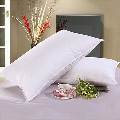 High-grade Down Bed Pillow Goose Feather and Down Pillow  Size 45cm*75cm !R