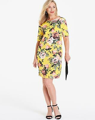 Womens Floral Print Shift Dress - Simply Be