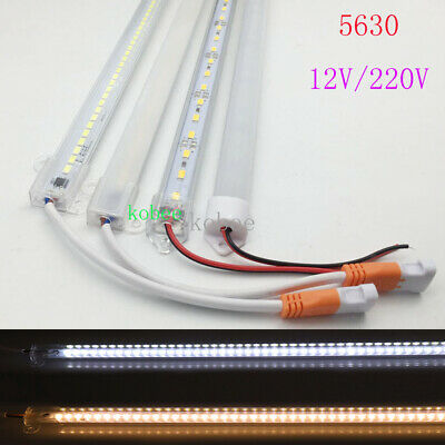 10pcs*50cm DC12V AC220V 5630 LED Hard Strip LED Bar Light 5630 with shell+ cover