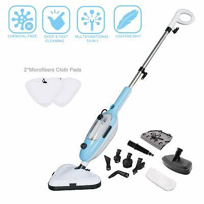YONG-YI Steam Mop Cleaner 10-in-1 with Convenient Detachable Handheld Unit, for