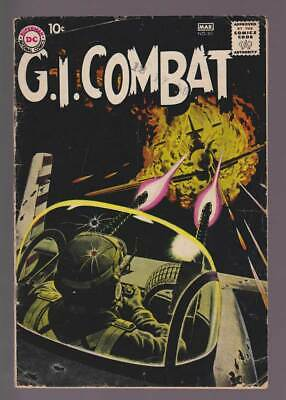GI Combat # 80  The Flying Horsemen : Grey Tone Cover !  grade 3.0 scarce book !