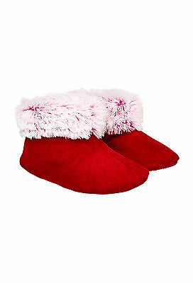 Peter Alexander Girls Red Snuggle boots Slippers Size M 13-1 BNWT