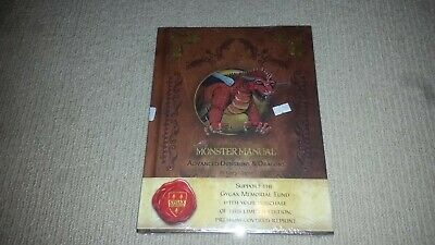 Advanced Dungeons & Dragons Monster Manual Limited Edition Reprint Gary Gygax