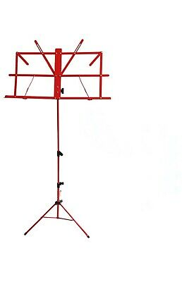 Adjustable Height Red Music Stand NEW