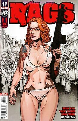 Rags #1 3Rd Ptg Third Print Variant Cover Antartic Presss Comic Book Sold Out 2