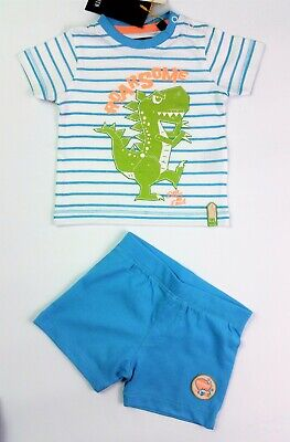 Baby Boys BLUE SEVEN Dinosaur Shorts & T-Shirt Outfit 3-6 Months NEXT DAY BNWT