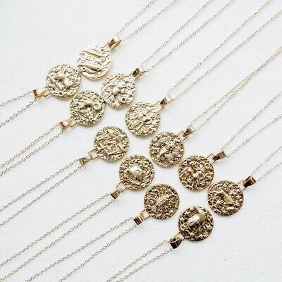 Fashion Personality 12 Constellation Pendant Clavicle Chain Simple Accessorie