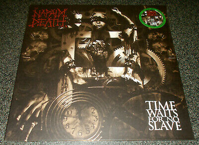 Napalm Death-Time Waits For No Slave-2015 Green Vinyl Lp-Limited 100-New/Sealed