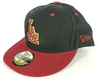 new concept 487d3 3c165 LOS ANGELES DODGERS CUSTOM COLOR New Era 5950 Hat Cardinal ( 35) MLB Cap LA