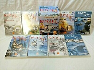 History of the Royal Navy, 8 DVD Box Set & Case, Very Good, Clean Condition