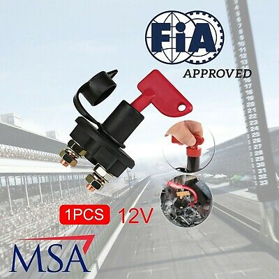 FIA MSA Heavy Duty Battery Master Isolator Cut Off Kill Switch Motorsport
