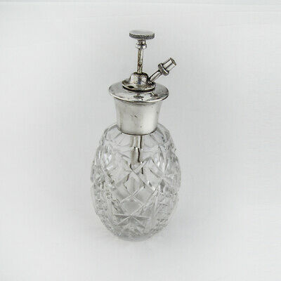 Perfume Pump Bottle Atomizer Sterling Silver Cut Crystal 1890