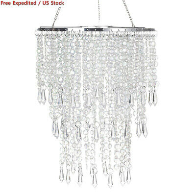 eacb23406ca CRYSTAL BEADED CHANDELIER for Girls Room Mini Swag Lamp Hanging ...