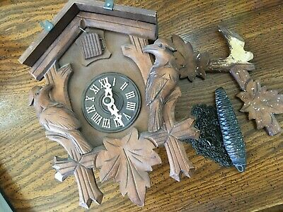 Black Forest German Cuckoo Clock For Parts or Repair Made in west Germany