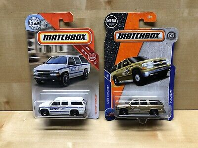 Matchbox 2000 Chevy Suburban Lot NYPD Boone County Sheriff Chevrolet