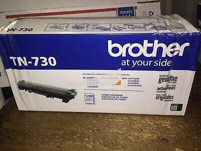 Genuine Sealed OEM Brother TN-730 Black Toner Cartridge; Exp:2018