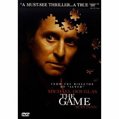 THE GAME 2002 Thriller dvd MICHAEL DOUGLAS Sean Penn
