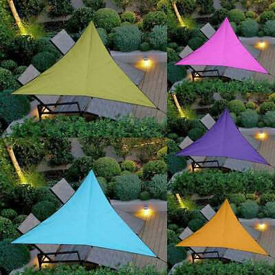 3M/4M Triangle Sun Shade Sail Cover Outdoor Patio Awning Canopy Garden UV Block