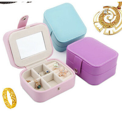 Portable Travel Jewelry Box Organizer Leather Case Storage Christmas Gifts &H