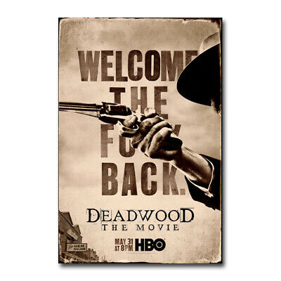 Deadwood The Movie Poster Daniel Minahan Film Art Silk Canvas Print 24x36  inch