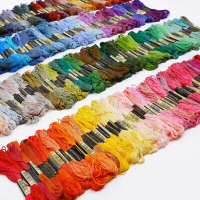 Cotton Cross Sewing Thread DMC Floss Skeins Multi Stitch Embroidery 50pcs Colors