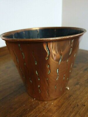 antique arts and crafts  copper planter PLANT POT