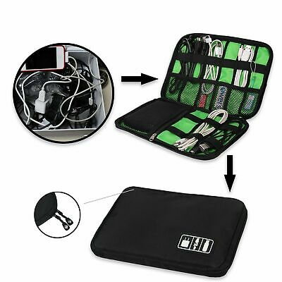 Electronic Travel Accessories Cable USB Drive Organizer Pouch Storage Bag Case D