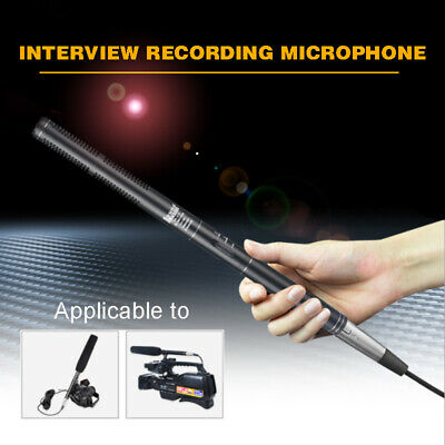 Handheld Microphone Interview Mic Condenser For DSLR Camera Video Camcorder