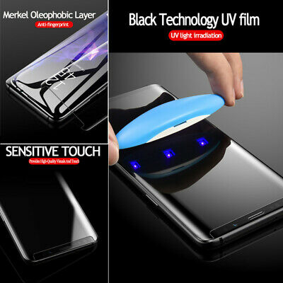 UV Glue Full Tempered Glass Screen Protector for Samsung Galaxy S10 S10Plus S10e