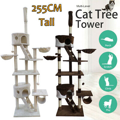 2.5M Cat Tree Trees Scratching Post Scratcher Tower Condo House Furniture Wood