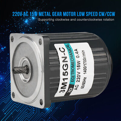 3M15GN-C 220V 15W Large Moment of Force Low Speed Metal AC Gear Motor CW/CCW