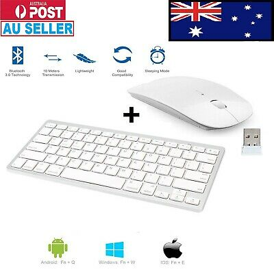 Wireless Keyboard Bluetooth and optical Mouse For PC LAPTOP MAC TABLET