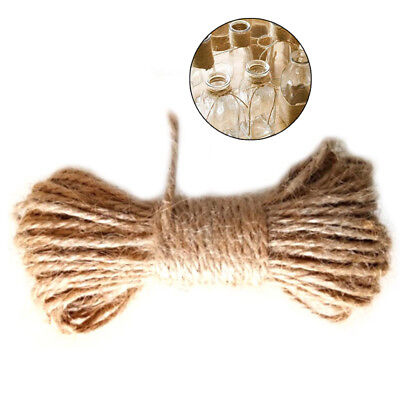 10m Natural Jute Hemp Rope Tag Label Hang String Cord DIY Craft Twisted Rope