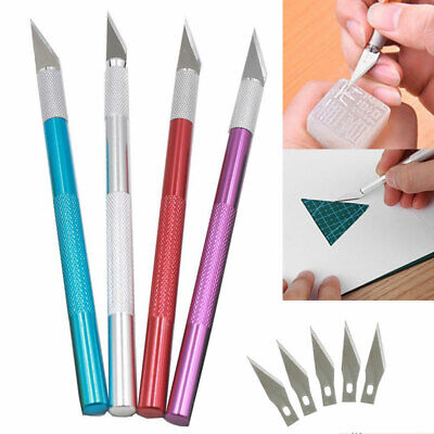 UK Multi-color Engraving Cutter Handle Craft Carving Knife Scalpel With Blade