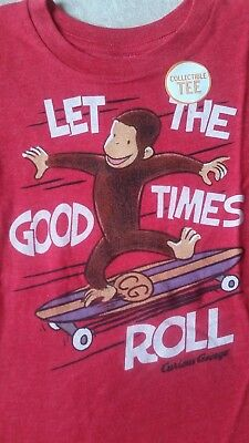 Jumping Beans Curious George Boys Size 4 T-Shirt Red,let The Good Times Roll