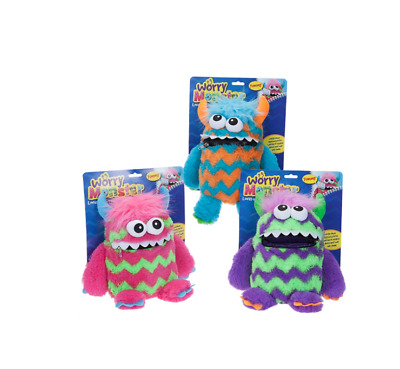 Plush Worry Monster Kids Soft Cuddly Toy for Stress & Anxiety