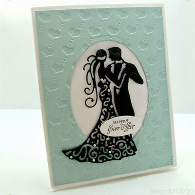 Romantic Dancing Lovers Wedding Cutting Dies For Scrapbooking Card Craft Deco WQ