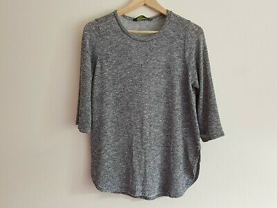 Blooming Marvellous maternity Size 10 shimmery thin jumper top 3/4 sleeves Grey