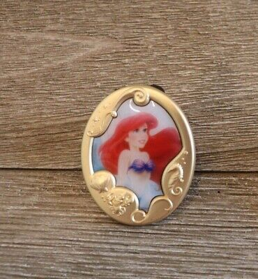 Disney Parks Mystery Set Princess Gold Frame Cameo Pin Ariel The Little Mermaid