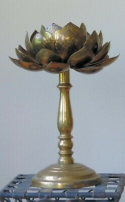 Candle stick, Japanese, brass, antique