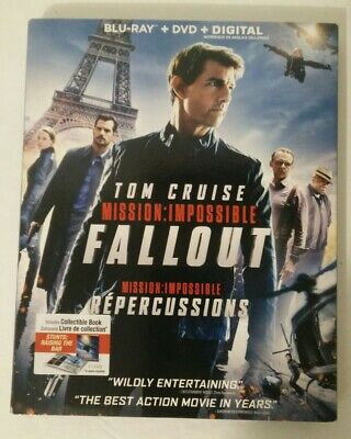 Mission: Impossible Fallout (Blu-ray + DVD + Digital) Tom Cruise SLIPCOVER NEW