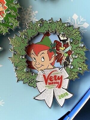 Disney Mickey's Very Merry Christmas Party 2018 Pin Peter Pan Tinker Bell LE