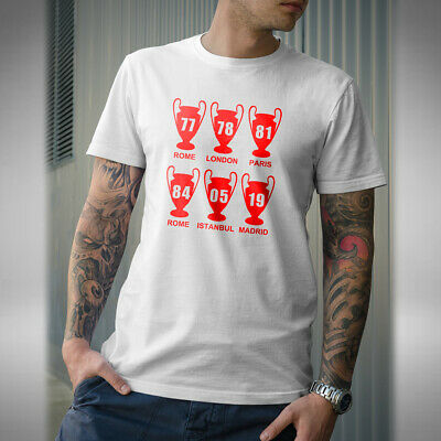 Liverpool 6X Champions League Mens T-Shirt 6X European Cup Champions Scouser